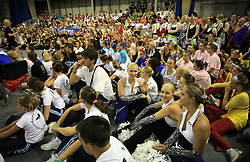 Dancers during the final ceremony at European Cheerleading Championship 2008, on July 5, 2008, in Arena Tivoli, Ljubljana, Slovenia. (Photo by Vid Ponikvar / Sportal Images).