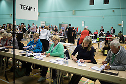 © Licensed to London News Pictures . 10/10/2014 . Heywood , UK . The count at the Heywood and Middleton by-election , following the death of sitting MP Jim Dobbin . Photo credit : Joel Goodman/LNP