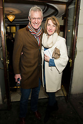 Jeremy Vine and guest attend the Beginning press night at the Ambassadors Theatre, London. Picture date: Tuesday 23rd January 2018.  Photo credit should read:  David Jensen/ EMPICS Entertainment