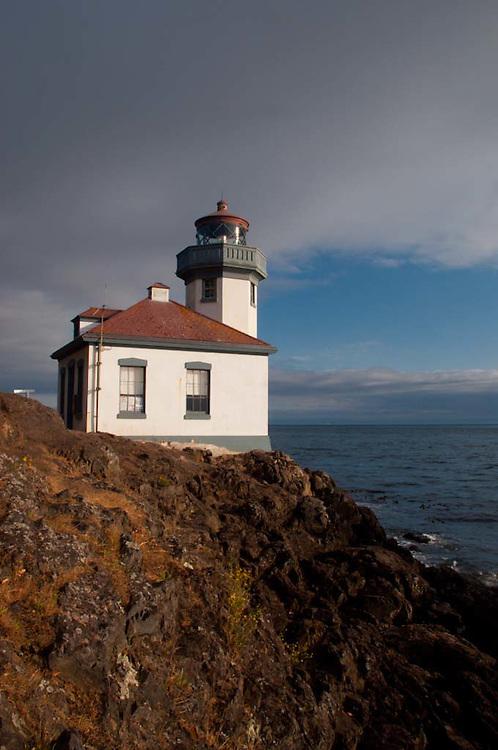 Lighthouse at Lime Kiln State Park, San Juan Island, Washington, US