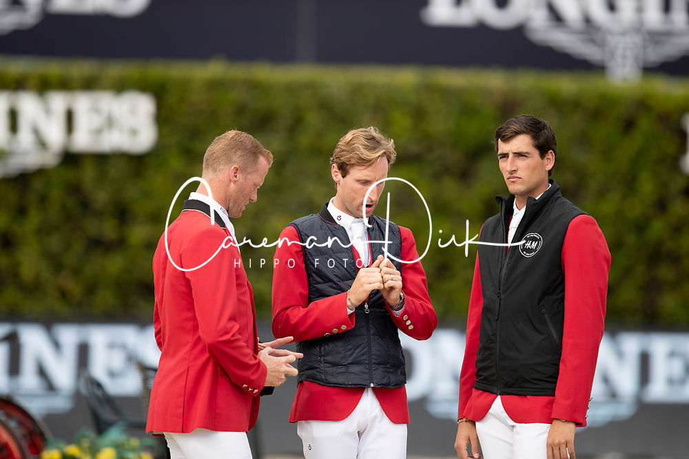 Philippaerts Nicola, Bruynseels Niels, Devos Pieter<br /> Longines FEI Jumping Nations Cup™ Final<br /> Barcelona 20128<br /> © Hippo Foto - Dirk Caremans<br /> 07/10/2018