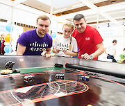 27/11/2016 REPRO FREE: William Mullins CISCO with  Charlotte Burke and Martin Burke CISCO  inNUI Galway as part of the Galway Science & Technology Festival.<br /> Photo: Andrew Downes, Xposure.