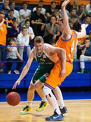 Luka Lapornik of KK Krka during basketball match between KK Helios Suns and KK Krka in semi-final of Nova KBM Champions League 2015/16, on May 23, 2016 in Hala Kominalnega Centra, Domzale, Slovenia. Photo by Urban Urbanc / Sportida