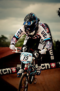 Arielle Martin (USA) at the practice round of the UCI BMX Supercross World Cup, Pietermaritzburg, 2011