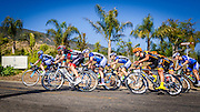 Professional cyclists at the Amgen Tour of California, Santa Barbara, California USA
