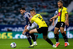 Hal Robson-Kanu of West Bromwich Albion takes on Will Smith of Harrogate Town - Mandatory by-line: Robbie Stephenson/JMP - 16/09/2020 - FOOTBALL - The Hawthorns - West Bromwich, England - West Bromwich Albion v Harrogate Town - Carabao Cup