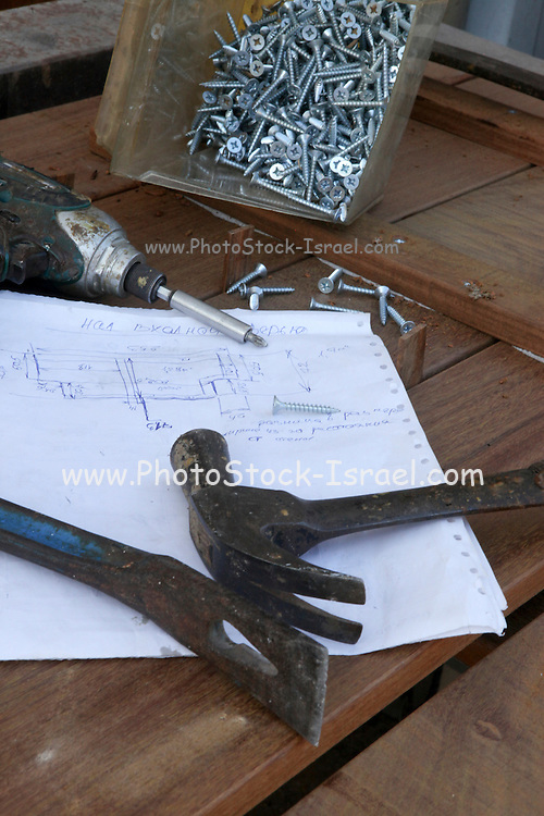 Carpenter's tools - woodwork concept