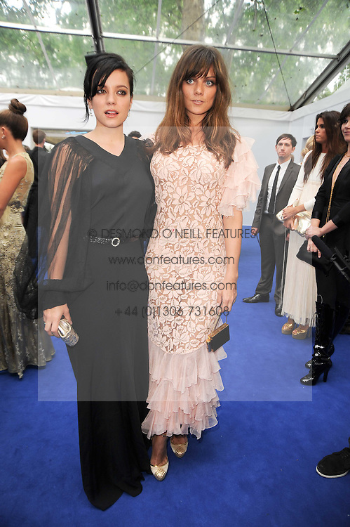 Left to right, LILY ALLEN and her sister at the Glamour Women Of The Year Awards held in Berkeley Square, London on 8th June 2010.