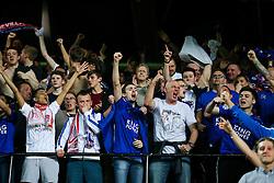 Leicester City fans celebrate after Kasper Schmeichel scores a goal to make it 2-1 - Rogan Thomson/JMP - 22/02/2017 - FOOTBALL - Estadio Ramon Sanchez Pizjuan - Seville, Spain - Sevilla FC v Leicester City - UEFA Champions League Round of 16, 1st Leg.