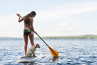 Lake Winnisquam paddle boarding.  ©2014 Karen Bobotas Photographer