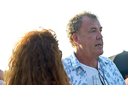 Cornbury Festival, Oxfordshire.<br /> English broadcaster, journalist and writer Jeremy Clarkson with British journalist and former newspaper editor Rebekah Brooks takes in the sun at Cornbury Music Festival in front of a sun soaked crowd,<br /> Great Tew Park, Oxfordshire, United Kingdom<br /> Saturday, 6th July 2013<br /> Picture by Rosalind Butt / i-Images<br /> File photo - Jeremy Clarkson's wife to divorce him after 21 years of marriage'. Photo filed Tuesday 6th May 2014.