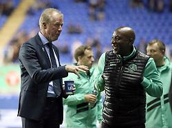 Queens Park Rangers manager Steve McClaren (left) before the Sky Bet Championship match between Reading and Queens Park Rangers.