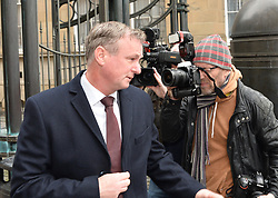 Manager of the Northern Ireland football team Michael O'Neill at Court in Edinburgh after pleading guilty to drink driving in September on the Edinburgh City bypass. O'Neill has been widely tipped as a potential replacement for Gordon Strachan as Scotland manager. He was three times the drink drive limit and was banned for 16 months and fined £1300.<br /> <br /> © Dave Johnston/ EEm