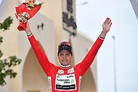 Podium, BOASSON HAGEN Edvald (NOR) Dimension Data, Red Leader Jersey, during the 7th Tour of Oman 2016, Stage 3, Al Sawadi Beach - Naseem Park (176,5Km), on February 18, 2016 - Photo Tim de Waele / DPPI