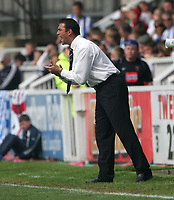 Photo: Andrew Unwin.<br />Hartlepool United v Port Vale. Coca Cola League 1. 06/05/2006.<br />Hartlepool's manager, Paul Stephenson.