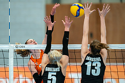 Elles Dambrink of Netherlands in action during the Women's friendly match between Netherlands and Belgium at Sporthal De Basis on may 19, 2021 in Sliedrecht, Netherlands (Photo by RHF Agency/Ronald Hoogendoorn)