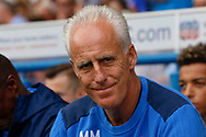 Ipswich Town manager Mick McCarthy during the EFL Sky Bet Championship match between Ipswich Town and Fulham at Portman Road, Ipswich, England on 26 August 2017. Photo by Phil Chaplin.