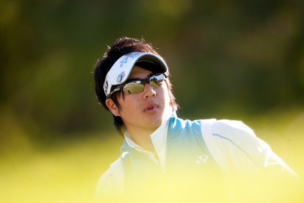 PACIFIC PALISADES, CA - FEBRUARY 19:  Ryo Ishikawa watches his shot during the first round of the 2009 Northern Trust Open at Riviera Country Club in Pacific Palisades, California on Thursday, February 19, 2009. (Photograph by 2009 Darren Carroll)  *** Local Caption *** Ryo Ishikawa