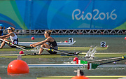 "Rio de Janeiro. BRAZIL.   NZL W1X, Quarter Final, Emma TWIGG. 2016 Olympic Rowing Regatta. Lagoa Stadium,<br /> Copacabana,  ""Olympic Summer Games""<br /> Rodrigo de Freitas Lagoon, Lagoa.   Tuesday  09/08/2016 <br /> <br /> [Mandatory Credit; Peter SPURRIER/Intersport Images]"