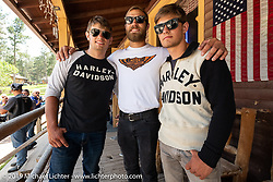 17-year old twins Luke Knight (left) and Matthew (right) with older brother Lance on the Sturgis Black Hills Motorcycle Rally. SD, USA. Wednesday, August 7, 2019. Photography ©2019 Michael Lichter.