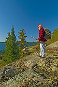 Hunter on Crow (Kakagi) Lake<br />Near Nestor Falls<br />Ontario<br />Canada