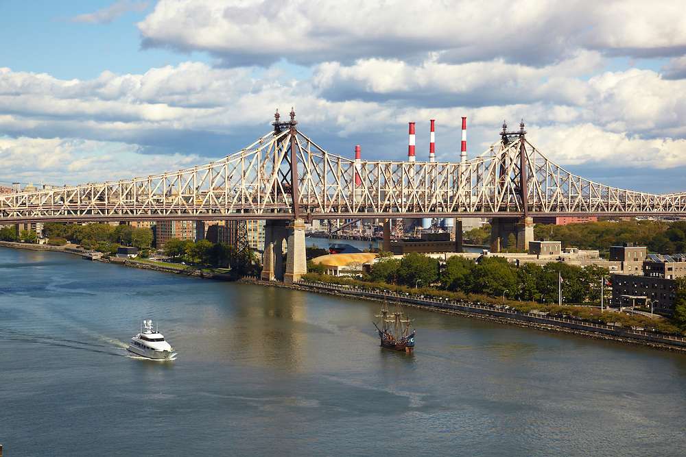 View of East River and 59th Street Bridge from 450 East 52nd Street, 15th floor