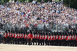 The Trooping the Colour ceremony at Horse Guards Parade, central London, as the Queen celebrates her official birthday.