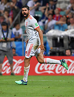 WM 2018, Portugal - Spanien FUSSBALL WM 2018 Vorrunde Gruppe B 15.06.2018 Portugal - Spanien Rodrigo (Spanien) bejubelt seinen Treffer zum 2:2 *** FIFA World Cup 2018 Preliminary Group B 15 06 2018 Portugal Spain Rodrigo Spain celebrate their goal to 2 2 PUBLICATIONxNOTxINxAUTxSUIxITA