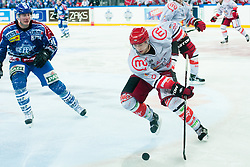 Aleksandar Magovac (HK Acroni Jesenice, #29) during ice-hockey match between KHL Medvescak Zagreb and HK Acroni Jesenice in 39th Round of EBEL league, on Januar 8, 2012 at Arena Zagreb, Zagreb, Croatia. (Photo By Matic Klansek Velej / Sportida)
