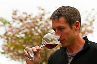 Alastair Maling, Winemaker, Villa Maria Estate Winery tasting wines, Mangere, Auckland, New Zealand