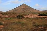 Cone volcano near La Oliva, Fuerteventura, Canary Islands, Spain