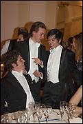 JOSHUA CHARLTON-BRIGGS; MICHAEL YU; LOU OSMAN, Oxford University Polo club Ball, Blenheim Palace. Woodstock. 6 March 2015