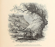 Tophet the lower portion of the Valley of Hinnom, Jerusalem, from the book Picturesque Palestine, Sinai, and Egypt By  Colonel Wilson, Charles William, Sir, 1836-1905. Published in New York by D. Appleton and Company in 1881  with engravings in steel and wood from original Drawings by Harry Fenn and J. D. Woodward Volume 1