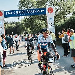 Arrival of the PARIS-BREST-PARIS Randonneur race. Rambouillet, France. August 22, 2019.