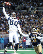 Seattle Seahawks' widereceiver Jerry Rice (80) during action against the St. Louis Rams at the Edward Jones Dome in St. Louis, Missouri.