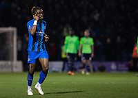 Football - 2018 / 2019 FA Cup - Third Round: Gillingham vs. Cardiff City<br /> <br /> Gabriel Zakuani (Gillingham FC) signalks to his keeper to think at Priestfield Stadium.<br /> <br /> COLORSPORT/DANIEL BEARHAM