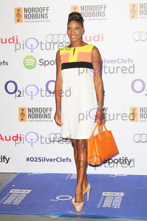 Denise Lewis, Nordoff Robbins O2 Silver Clef Awards, London Hilton Park Lane, London UK, 04 July 2014, Photo by Richard Goldschmidt