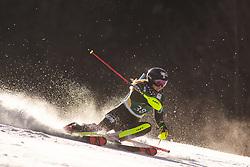 Nina O Brien (USA) during the Ladies' Slalom at 56th Golden Fox event at Audi FIS Ski World Cup 2019/20, on February 16, 2020 in Podkoren, Kranjska Gora, Slovenia. Photo by Matic Ritonja / Sportida
