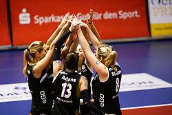 20161106 DUI: Bundesliga, Ladies in Black Aachen - MTV Allianz Stuttgart: Aachen<br />Ladies in Black Aachen vieren een blokpunt<br />©2016-FotoHoogendoorn.nl / Pim Waslander