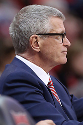 10 January 2018:  MVC Commissioner Doug Elgin during a College mens basketball game between the Loyola Chicago Ramblers and Illinois State Redbirds in Redbird Arena, Normal IL