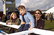 Mrs. Justin Bygott-Webb, Princess Khatani and her son Piruz. Ludlow Charity Race Day,  in aid of Action Medical Research. Ludlow racecourse. 24 march 2005. ONE TIME USE ONLY - DO NOT ARCHIVE  © Copyright Photograph by Dafydd Jones 66 Stockwell Park Rd. London SW9 0DA Tel 020 7733 0108 www.dafjones.com