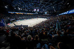 Overview dressage arena<br /> LONGINES FEI World Cup™ Finals Paris 2018<br /> © Hippo Foto - Stefan Lafrentz<br /> 14/04/2018