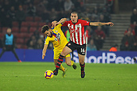 Football - 2018 / 2019 Premier League - Southampton vs. Crystal Palace<br /> <br /> Southampton's Oriol Romeu shrugs Andros Townsend of Crystal Palace off the ball during the Premier League match at St Mary's Stadium Southampton <br /> <br /> COLORSPORT/SHAUN BOGGUST
