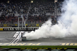 March 1, 2019 - Las Vegas, NV, U.S. - LAS VEGAS, NV - MARCH 01: Kyle Busch (51) Kyle Busch Motorsports (KBM) Toyota Tundra celebrates by climbing on the door of his truck after winning the NASCAR Gander Outdoors Truck Series The Strat 200 on March 1, 2019, at Las Vegas Motor Speedway in Las Vegas, Nevada. (Photo by Michael Allio/Icon Sportswire) (Credit Image: © Michael Allio/Icon SMI via ZUMA Press)