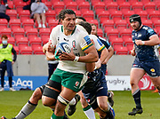 London Irish Lock Steve Mafi during a Gallagher Premiership Round 14 Rugby Union match, Sunday, Mar 21, 2021, in Eccles, United Kingdom. (Steve Flynn/Image of Sport)