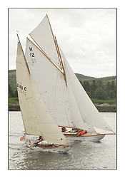 Day three of the Fife Regatta, Cruise up the Kyles of Bute to Tighnabruaich<br /> Mignon, Bob Fisher, GBR, Bermudan Sloop, Wm Fife 3rd, 1898 and The Truant, Ross Ryan, GBR, Gaff Cutter 8mR, Wm Fife 3rd, 1910<br /> <br /> * The William Fife designed Yachts return to the birthplace of these historic yachts, the Scotland's pre-eminent yacht designer and builder for the 4th Fife Regatta on the Clyde 28th June–5th July 2013<br /> <br /> More information is available on the website: www.fiferegatta.com