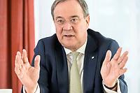 27 NOV 2020, BERLIN/GERMANY:<br /> Armin Laschet, CDU, Ministerpraesident Nordrhein-Westfalen, waehrend einem Interview, Landesvertretung Nordrhein-Westfalen<br /> IMAGE: 20201127-01-019