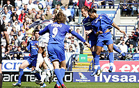 Photo: Paul Thomas.<br /> Bolton Wanderers v Chelsea. The Barclays Premiership. 15/04/2006.<br /> <br /> Didier Drogba scores for Chelsea (C)