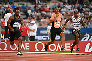 Jimmy Vicaut (FRA) competes in 100m Men during the Meeting de Paris 2018, Diamond League, at Charlety Stadium, in Paris, France, on June 30, 2018 - Photo Julien Crosnier / KMSP / ProSportsImages / DPPI