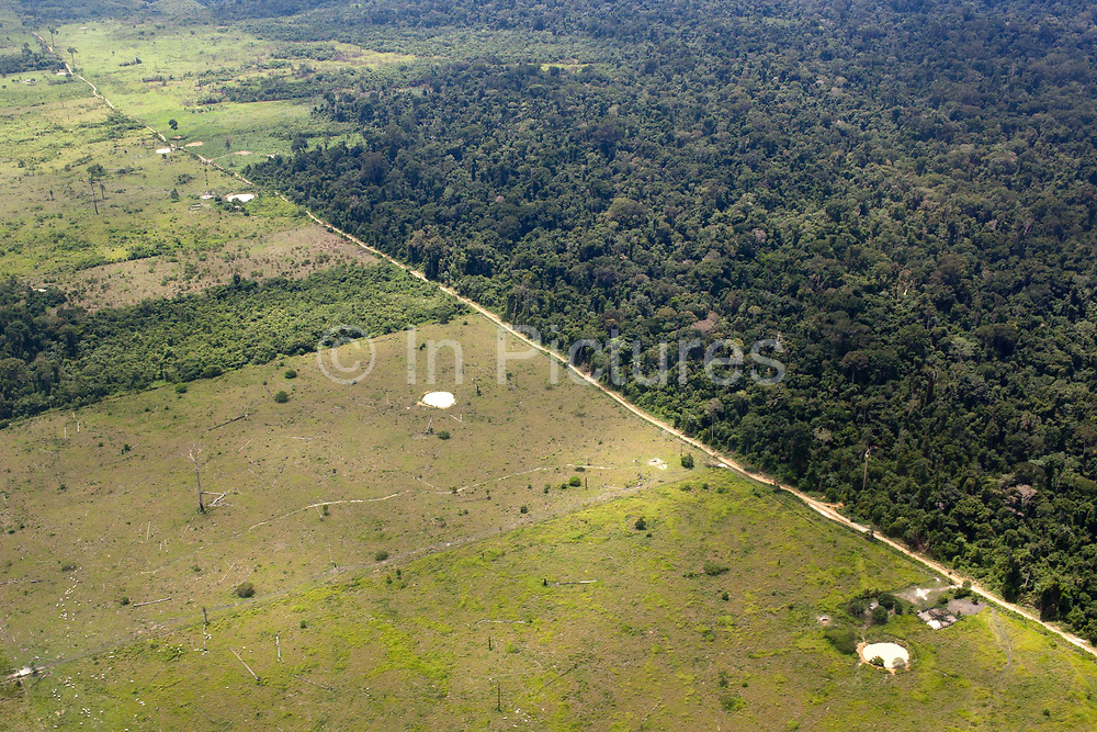 Greenpeace Brazil use a light aircraft to investigate deforestation from logging and the Belo Monte Hydroelectric dam, Altamira, Para, Brazil.